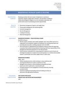 Sample Of Warehouse Resume Warehouse Worker Resume Samples Template Amp Tips