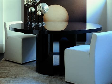 Fully Upholstered Dining Room Chairs by Round Dining Table Gong Gong Collection By Meridiani