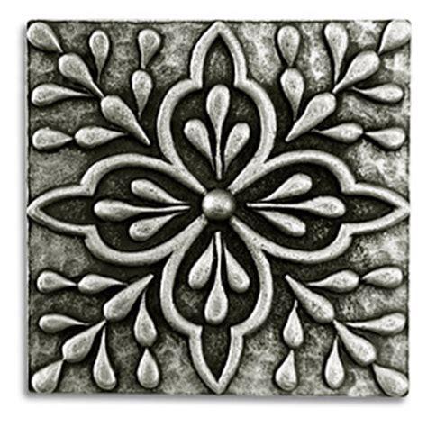 Moroccan Tile Kitchen Backsplash by Donatella 2x2 Inch Pewter Tile Metal Tile Accent Tiles