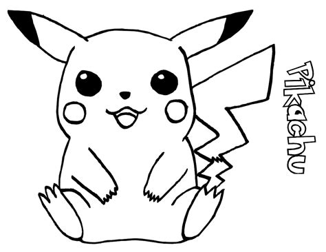 pokemon coloring pages pichu free printable pikachu coloring pages for kids