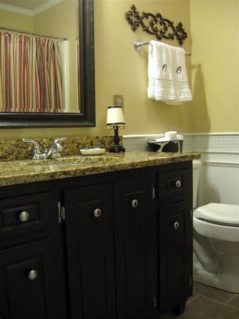 how to paint bathroom cabinets black bathroom