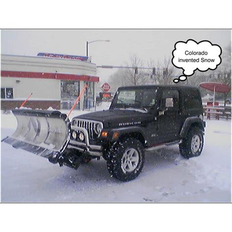 Snow Plow For A Jeep Wrangler Lifted Jeep Wrangler Tj Snowplow Installation Plowsite
