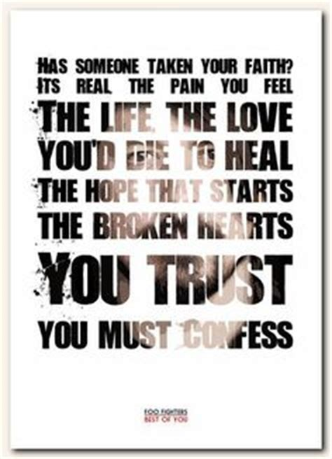 foo fighters best of you lyrics foo fighters times like these song lyric typography