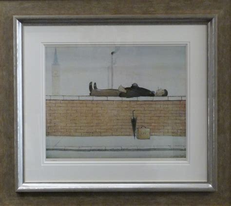 Wall Hanging Ls by Lying On A Wall By L S Lowry Signed Limited Edition