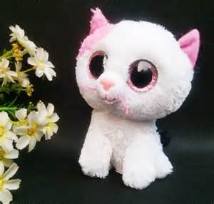orignal ty beanie boos big eyed stuffed animals muffin cat