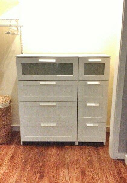 inside a reach in closet narrow 4 drawer brimnes