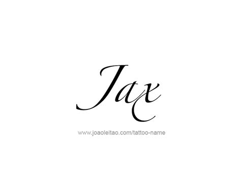 jax tattoo font jax name tattoo designs