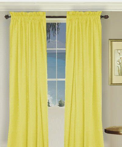 bright colored curtains solid bright lemon yellow colored door curtain