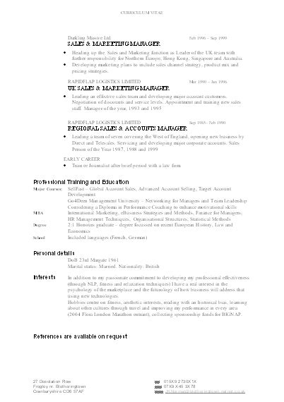 Eg Of Resume by Adaswaisu Cv Exle