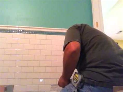 How To Install A Kitchen Backsplash installation subway tile pattern 9 13 10 youtube
