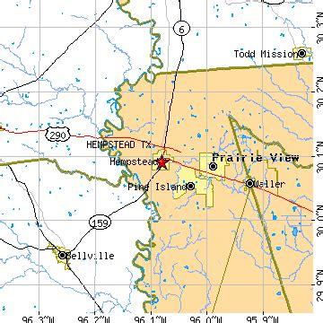 hempstead texas map hempstead texas tx population data races housing economy