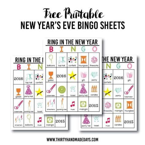 new year printable cards updated printable new year s bingo thirty handmade days