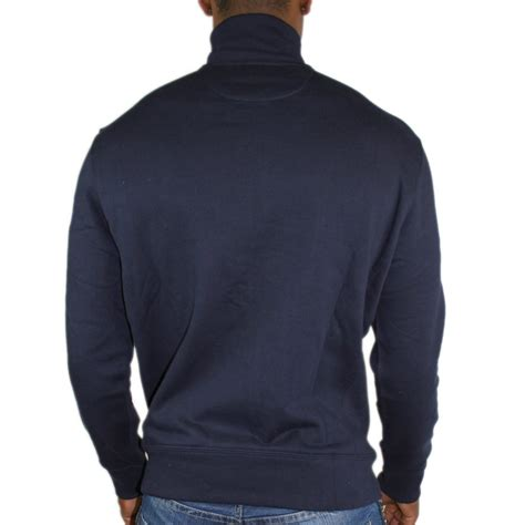 Hoodie Jumper Polos Navy navy zip through jumper from polo ralph mens