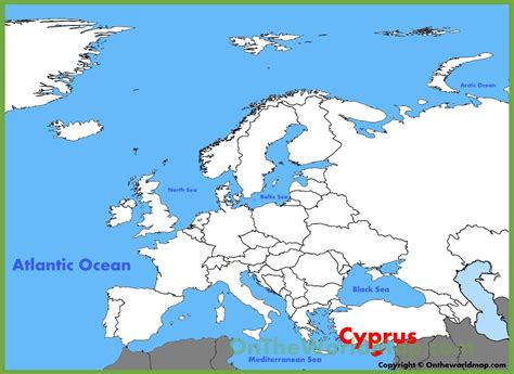 cyprus map cyprus location on the europe map