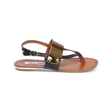 steve madden sandals black steve madden cuff flat sandals in black lyst
