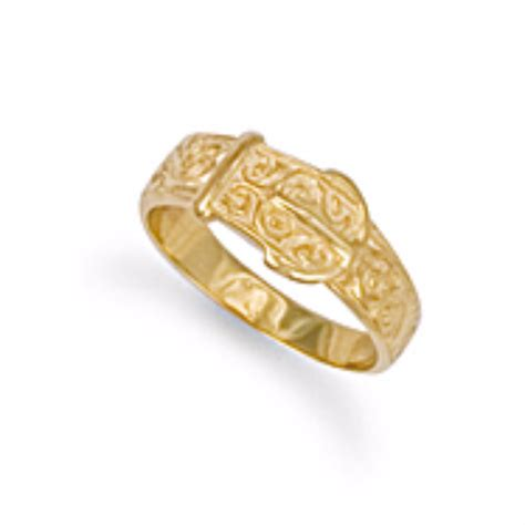 Ring Belt Gold 9ct gold belt buckle ring 2g