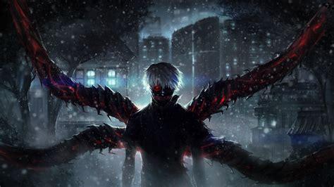 Wallpaper Tokyo Ghoul, Ken Kaneki, Snow, Artwork, 4K, 8K