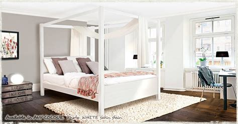 white four poster bed frame four poster beds