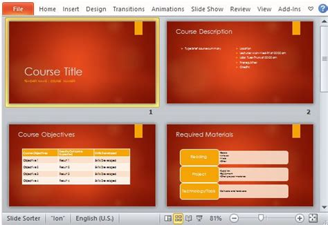 college powerpoint template academic course overview powerpoint template powerpoint