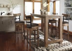 pinnadel dining room bar table amp 4 tall uph swivel bar