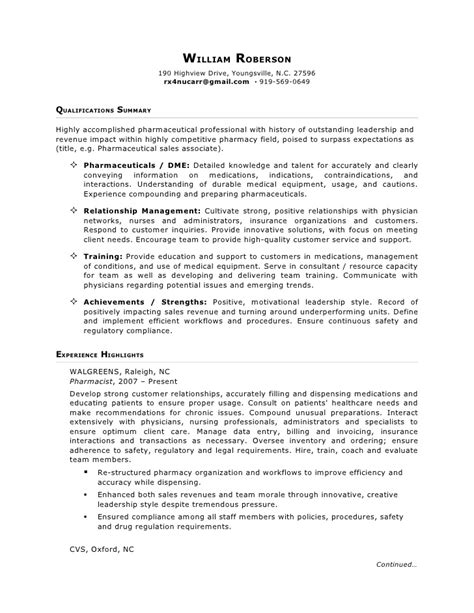 free printable resume sles pharmaceutical resume templates basic resume templates