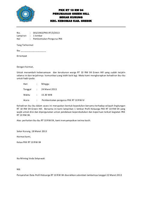 contoh surat hasil rapat rt wisata dan info sumbar