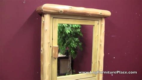 rustic bathroom medicine cabinet from the cedar lake