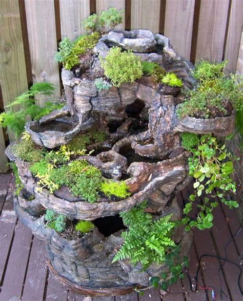 fairy garden miniature fieldstone fountain 17 best images about hypertufa concrete crafts on planters cement planters and