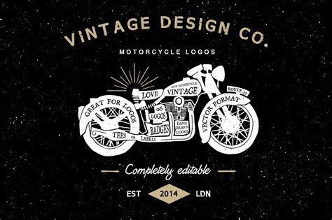 design a motorcycle logo vintage motorcycle logos logo templates creative market
