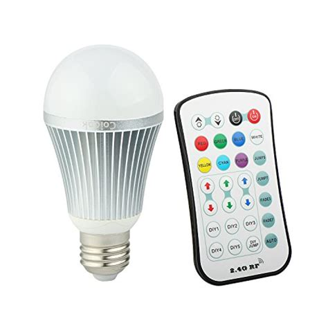 Led Color Changing Light Bulb With Wireless Remote 2010 coidak e26 rgb w led color changing light bulb with 2 4g rf import it all