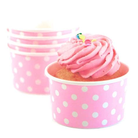 Lolla Cup Pink baby pink and white polka dot paper cups modern
