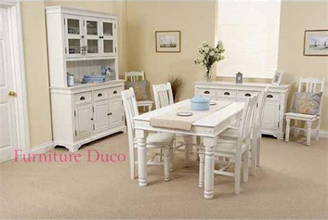 Meja Makan Warna Putih set meja makan minimalis warna putih cat duco furniture