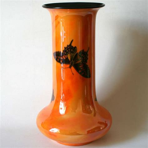 Crown Ducal Ware Vase crown ducal lustre ware vase butterfly pattern deco