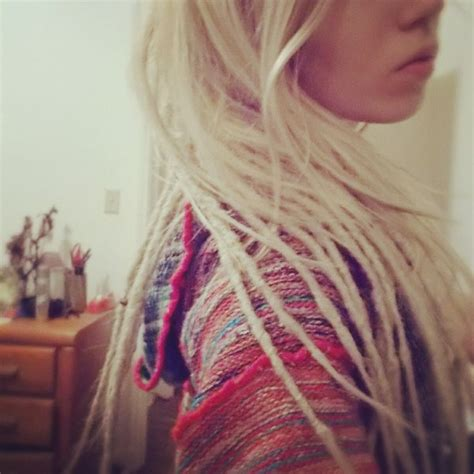 tiny dreadlock pictures my dreads dreadlocks dread girl blonde hair hair