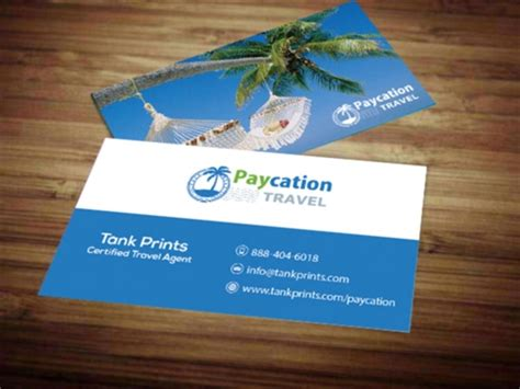 visiting card templates for tours and travels paycation business card 3 tank prints