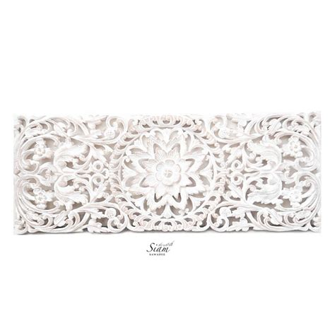 buy floral carved wooden wall art panel