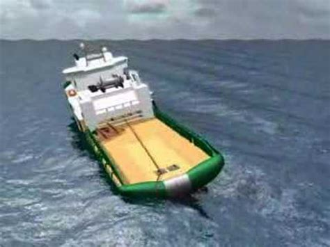 tugboat girting bourbon dolphin accident simulation animation youtube