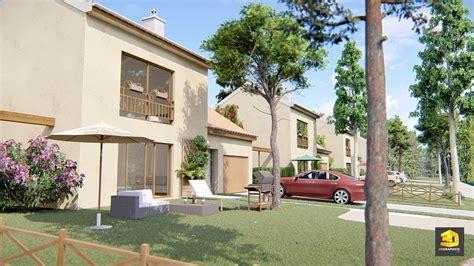 architecture maison 3d cr 233 ation d une perspective 3d lotissement et maisons