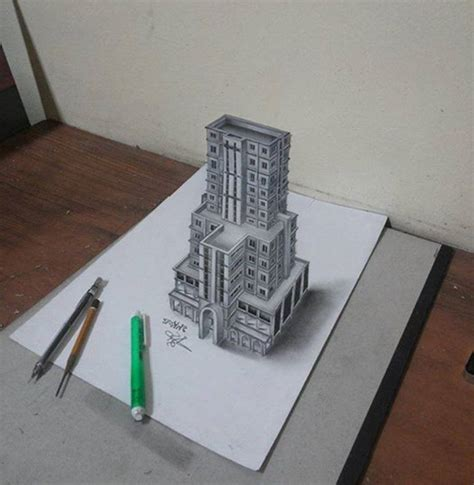 3d building drawing 3d pencil drawing drawing of sketch