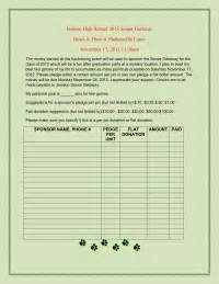 Pledge Sheets For Fundraising Template by Bowling Pledge Sheet Pto Today