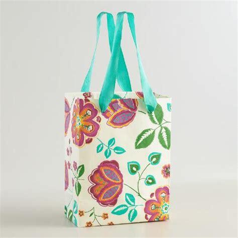 Handmade Craft Bags - small louisa handmade gift bags set of 2 world market