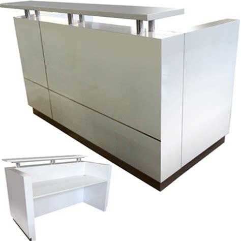 hugo reception counter 1800w x 950d x 1150h white