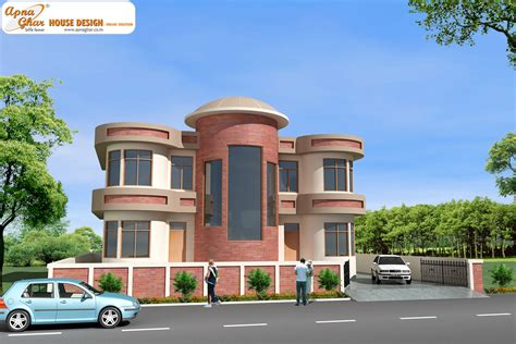 mansions designs duplex house design apnaghar house design page 5