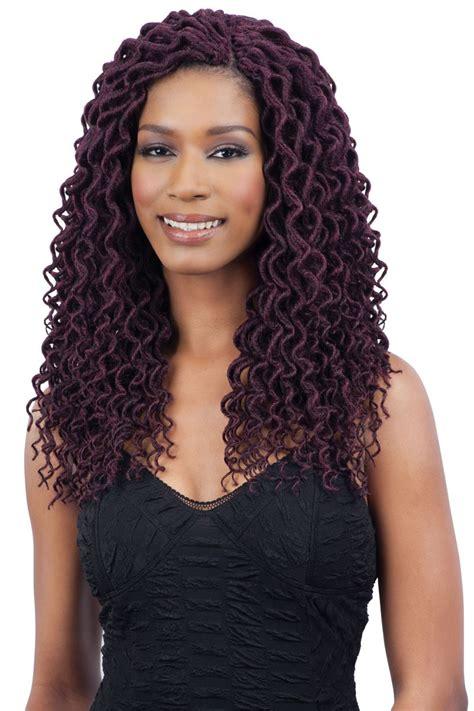 freetress braid pre looped crochet  soft curly faux loc