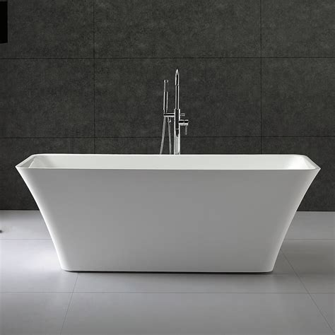 59 inch small acrylic modern soaking bathtub by