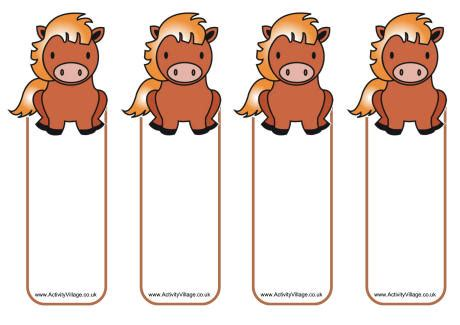 free printable horse bookmarks horse bookmarks