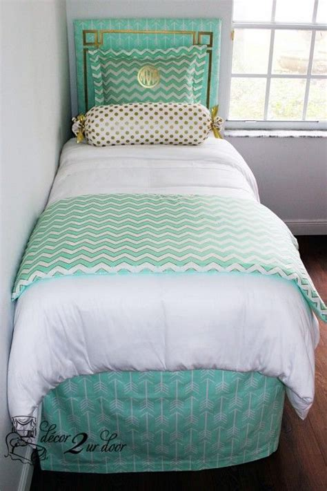 mint green twin xl comforter mint glitz designer bed in a bag set dorm room bedding