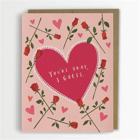 awkward typographic valentine s day cards that will make