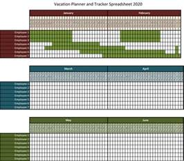 Vacation Planner Template by 2016 Excel Employee Vacation Planner Template Calendar