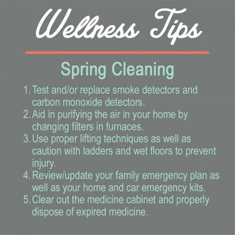 spring home tips health tips dobson healthcare services inc